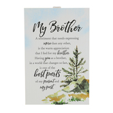 Dexsa, My Brother Table Plaque, MDF Wood, White, 6 x 9 inches