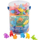 Learning Resources, Back in Time Dinosaur Counters, Set of 72, Multi-Colored, 2 to 2.50 Inches, Ages 3-6