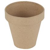 Paper Mache Large Flower Pot, 5 Inches