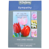 DaySpring, Merciful Kindness Sympathy Boxed Cards, 12 Cards with Envelopes
