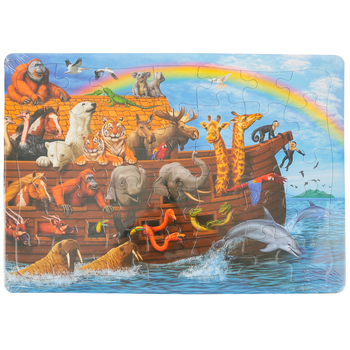 Outset Media, Noah's Ark Tray Jigsaw Puzzle, 35 Pieces, 14 x 10 inches