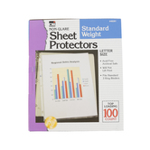 Charles Leonard, Sheet Protectors, 8.5 x 11 Inches, Clear, Pack of 100