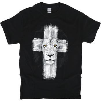 Kerusso, Revelation 5:5 Lion Cross, Men's Short Sleeve T-Shirt, Black, S-3XL