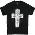 Kerusso, Revelation 5:5 Lion Cross, Men's Short Sleeve T-Shirt, Black, 2X-Large