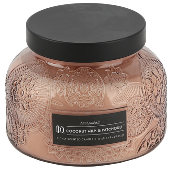 Winfield Home Decor, Coconut Milk and Patchouli Scented Jar Candle, Taupe, 18 Ounces