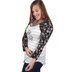 NOTW, Then Sings My Soul, Women's Striped 3/4 Sleeve Raglan T-shirt, Gray and White, X-Small