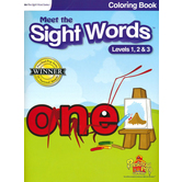 Preschool Prep Company, Meet the Sight Words Coloring Book, Levels 1-3, 64 Pages, Grades PreK-1