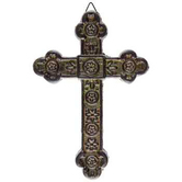 Cast-Iron Wall Cross, Rustic Green, 8 1/2 x 6 inches