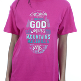 Rooted Soul, Matthew 17:20 Things God Moves, Women's Short Sleeve T-Shirt, Berry, S-2XL