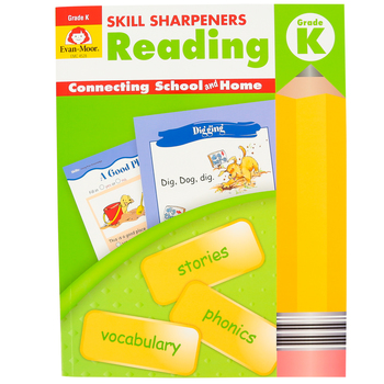 Evan-Moor, Skill Sharpeners Reading Activity Book, Paperback, 144 Pages, Grade K