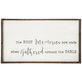 The Best Memories Wall Decor, MDF, Whitewash and Brown, 19 3/4 x 36 1/8 x 1 1/2 inches
