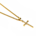 Dicksons, Joshua 1:9 Be Strong Nail Cross, Men's Necklace, Stainless Steel, Gold, 24 inches