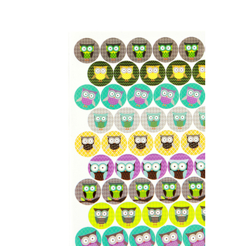 Renewing Minds, Owls Mini Incentive Stickers, Multi-Colored, Pack of 1050