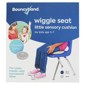 Bouncyband, Little Wiggle Seat Sensory Chair Cushion, Gray, 10.75 Inch Diameter, Ages 3-7