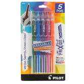 Pilot, FriXion Ball Color Sticks, Erasable Gel Pens, Fine Point, Assorted Colors, Pack of 5