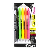 Pilot, G2 Retractable Fine Point Gel Pens, Neon, 1 Each of 5 Colors