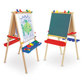 Melissa & Doug, Deluxe Standing Double-sided Art Easel, Ages 3 to 7 Years Old