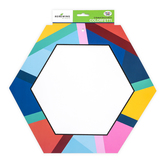 Colorfetti Collection, Two-Sided Decoration, 15 x 13 Inch, Geometric Shapes Design