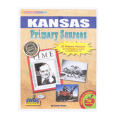 Gallopade, Kansas Primary Sources, by Carole Marsh, Card Stock, 20 Documents, Grades 3-12