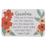 Carson Home Accents, Grandma Thank You Pocket Card, Plastic, 2 x 3 1/4 inches