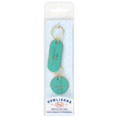 Fred and Friends, Howligans Dog Key Chain and Tag Set, Metal and Zinc, Turquoise, 6 x 1 3/4 inches, 2 Pieces