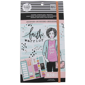 MAMBI, The Happy Planner Girl Faith Warrior Accessory Book, Multi-Colored, 4 3/4 x 9 Inches, 828 Pieces