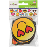 Pop Mania Collection, Mini Cutouts, 3 x 3 Inches, Assorted Designs, 36 Pieces