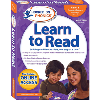 Hooked on Phonics, Learn to Read Level 3: Emergent Readers, Kindergarten, Box Set, Ages 4-6