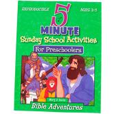5 Minute Sunday School Activities for Preschoolers Bible Adventures, Reproducible, Ages 2-5