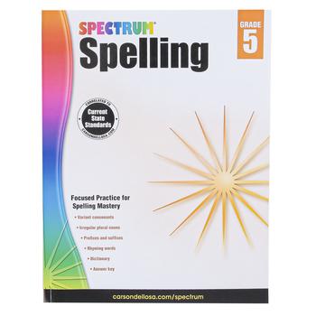 Carson-Dellosa, Spectrum Spelling Workbook, Paperback, 152 Pages, Grade 5