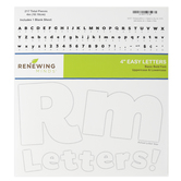 Renewing Minds, White Bulletin Board Letters, Upper and Lowercase, 4 Inches, White, 217 Pieces