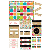 TooCute Collection, Customizable Calendar Bulletin Board Set, 110 Pieces