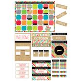 TooCute Collection, Customizable Calendar Bulletin Board Set, 110 Pieces