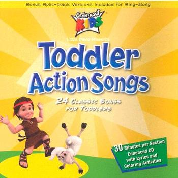 Toddler Action Songs: 24 Classic Songs for Toddlers, by Cedarmont Kids, CD