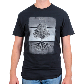 Kerusso, Colossians 2:7 Rooted In Christ, Men's Short Sleeved T-Shirt, Black, S-3XL