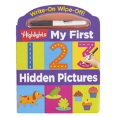 Highlights, Write-On Wipe-Off My First 123 Hidden Pictures Board Book, 24 Pages, Preschool Ages 3-5