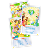 North Star Teacher Resources, Children's Bible Songs Bulletin Board Set, 8 Pieces