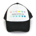 Tiny Trucker Co., Jesus Loves Me Tiny Hat, Adjustable Hat, Black and White, Ages 2-5