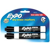 Expo Markers Black Chisel 2/pk