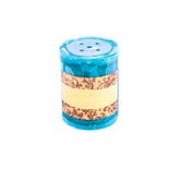 Darsee & David's, Bella Candella, Ocean Pillar Candle, Blue, 3 x 4 inches