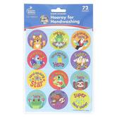 Carson-Dellosa, One World Hooray for Handwashing Shape Stickers, Multi-Colored, 72 Stickers