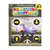 Teacher Created Resources, Practice to Learn: Following Directions Book, 7 x 9 Inches, 64 Pages, Grades K-1