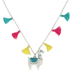 Glitter and Grace, Llama Tell You About Jesus Necklace, Pink/Yellow/Blue/Silver, 16 inch Chain