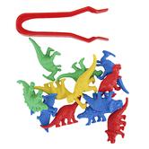 Edx Education, Dinosaur Counters Mini Jar Set 32 Pieces, Multi-Colored, Grades PreK-1