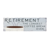 Carson Home Accents, Retirement The Longest Coffee Break Ever Magnet Bar, Resin, 6 x 2 x 1/2 inches