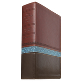 KJV Life Application Study Bible, Large Print, Duo-Tone, Brown, Tan, and Blue