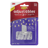 3M, Command Adjustables Repositionable Clips, Clear, Set of 14