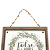 Today Is A Good Day For A Good Day Wall Decor, MDF and Metal, White, 8 x 8 x 3/8 inches