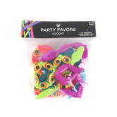Brother Sister Design Studio, Wiggle Snake Party Favor, 14.25 Inches, Assorted Colors, Pack of 4