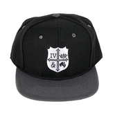 Riot Merchandising, for KING & COUNTRY Crest Snapback Hat, Black & White, One Size Fits Most
